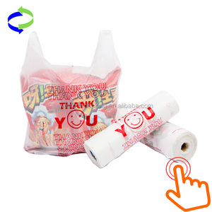 China Custom Printed Plastic Shopping Grocery Singlet/Vest Carrier Bags for Supermarket