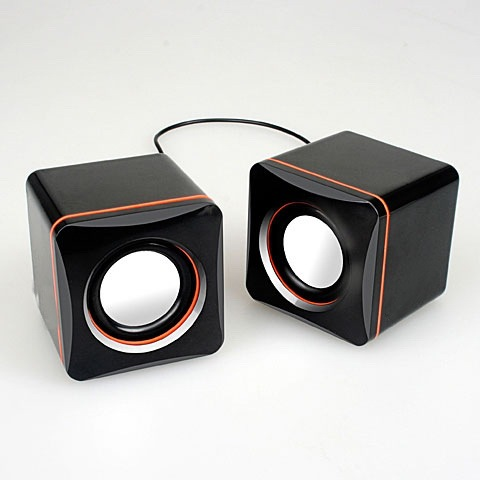 Lowest Price Mini USB Speaker Set For Computer MP3 Mobile Phone,Black Music Box
