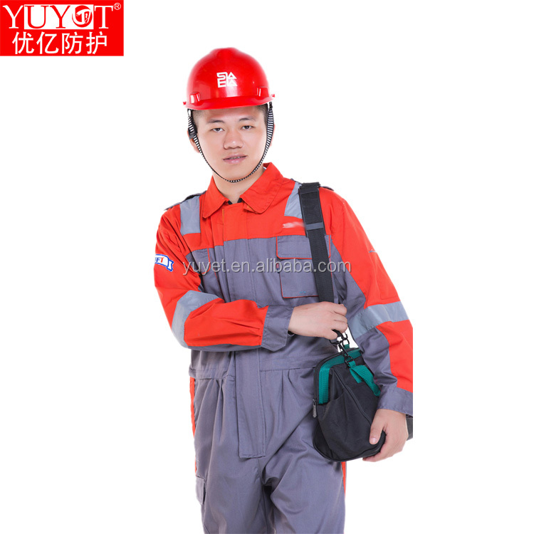 OEM safety 100cotton reflective labor workwear coverall