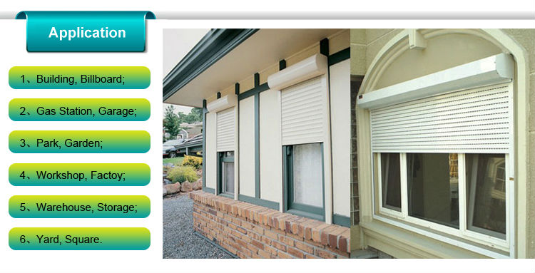 Heat-insulated security aluminium Roller shutter doors and windows