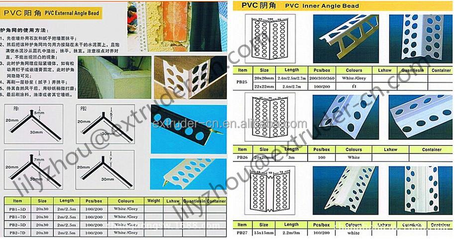 Pvc Fuga Corner Beads Profile Extruding Line Machine