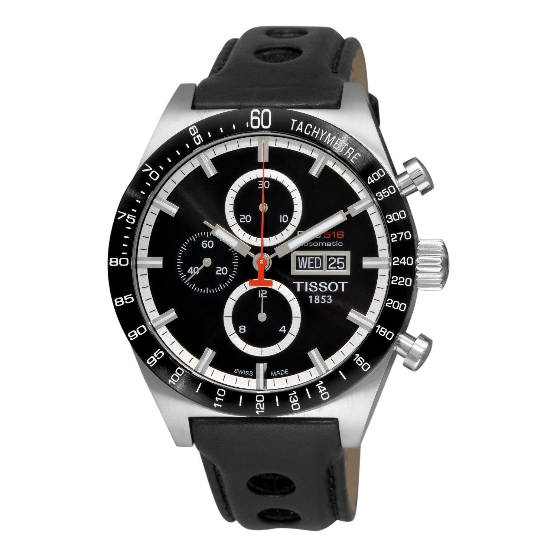 d4f68f9052e Get Quotations · Tissot Men's T0446142605100 T-Sport PRS516 Automatic Black  Day Date Dial Watch