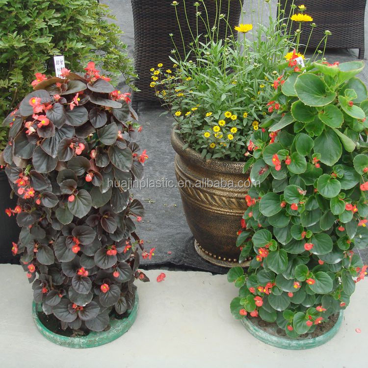Vertical growing system tower flower pots plastic stackable planter