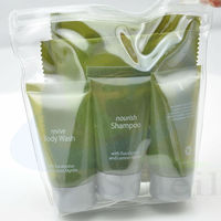 hotel/travel/home amenities kit paid use of clean suit including shampoo/bath gel/conditioner