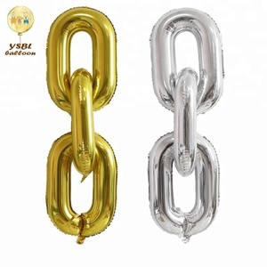 Colourful link chain helium foil balloon for baby and adult birthday party