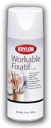 Fixative Provides Lasting Protection To Pencil, Pastel and Chalk Drawings (Pkg/4)
