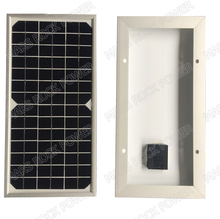 High Efficiency tempered glass lamination 10W 21V monocrystalline solar panel