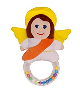 """My Guardian Angel"" Plush Baby Rattle with FREE Children's Rosary® Glorious Mysteries CD"