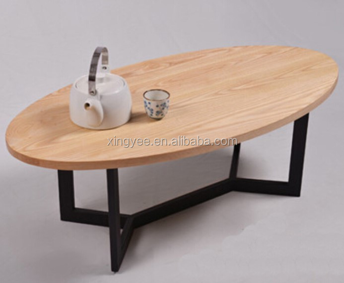 Modern Design Living Room Sofa Center Table Furniture Home Goods Mdf Coffee Tables Wood Top Oval