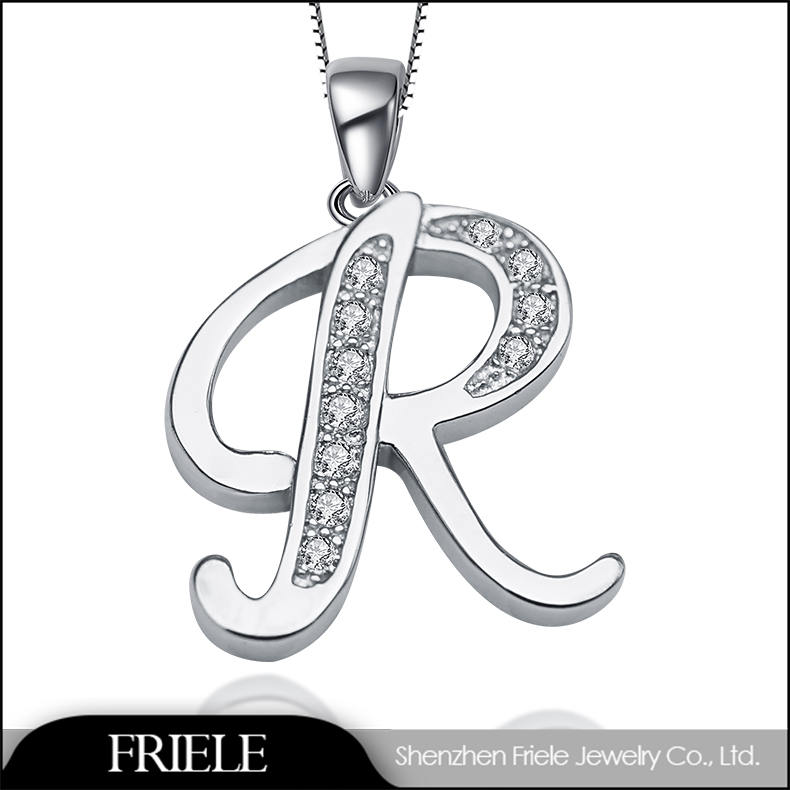 Alibaba express Letter r 925 silver pendant jewelry cheap items to sell