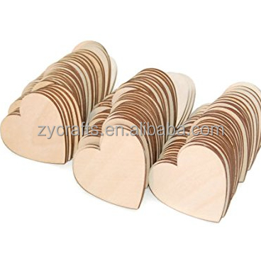 new laser cut unfinished wooden hanging wood heart shape