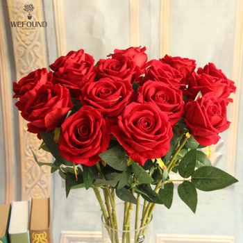 WF709 cheap wholesale artificial flowers artificial silk rose flower for wedding decoration