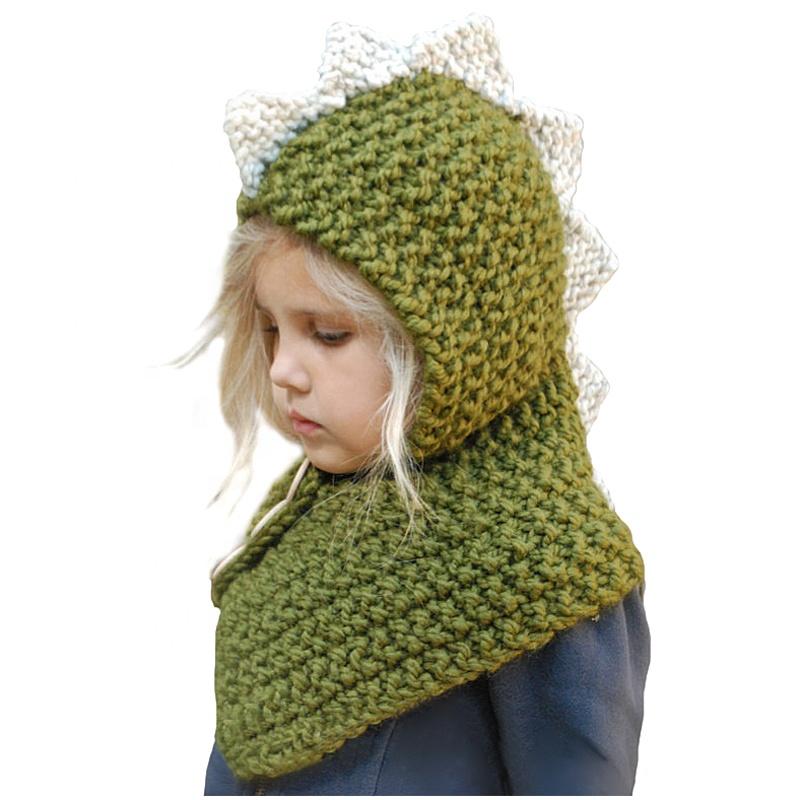e939875b3 Acrylic Crochet Animal Dinosaur Chunky Warm Children Winter Cable Knitted  Hat Handmade Crochet Baby Knit Hat And Scarf Set - Buy Hat And Scarf ...