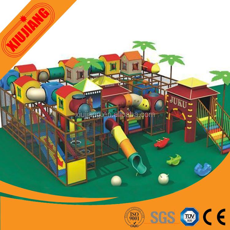 Comercial niños parque infantil cubierto juegos, espuma suave zona ...