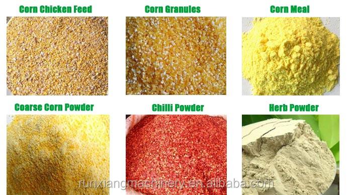 Small Capacity Corn Maize Grain Disk Mill Crushing Grinder Grinding Machine