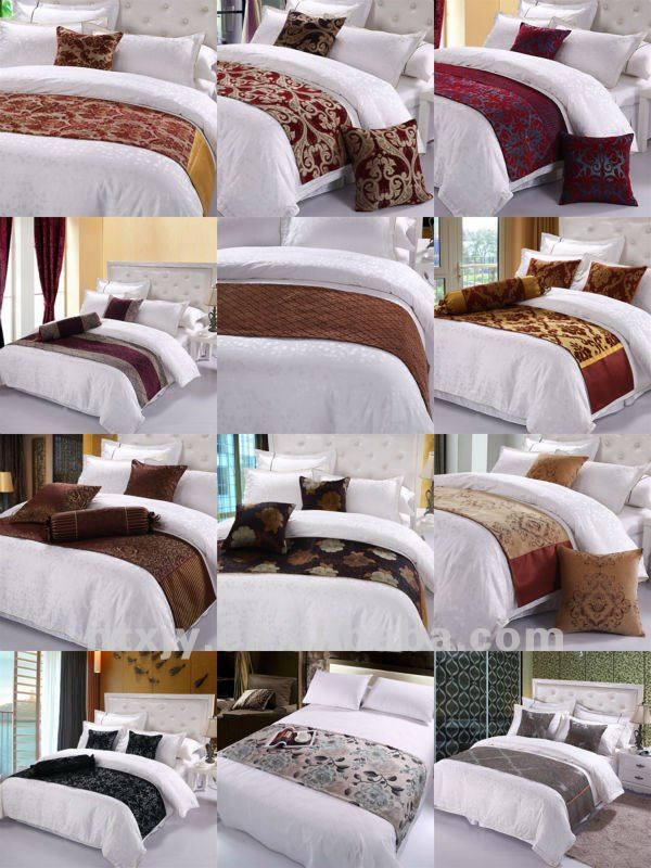 Jacquard Bed Scarf And Runner For Hotel Use