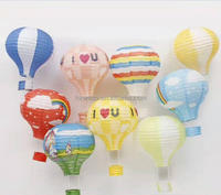 Hot Air Balloon Chinese Paper Lantern Colorful Round Paper Hanging Lanterns for Wedding Christmas Outdoor Decorations