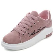 c59f38696aa ¡Mhysa 2019 primavera otoño nuevas cuñas de encaje de color rosa-plataforma zapatillas  de deporte mujeres vulcanizar zapatos de .