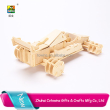 New products 2017 wooden model 3D car puzzle unique gift ideas promotion product