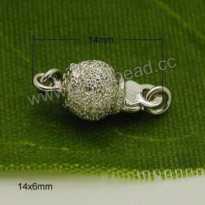 Hot sale cheap indian jewelry accessories, 925 sterling silver box clasp for jewelry