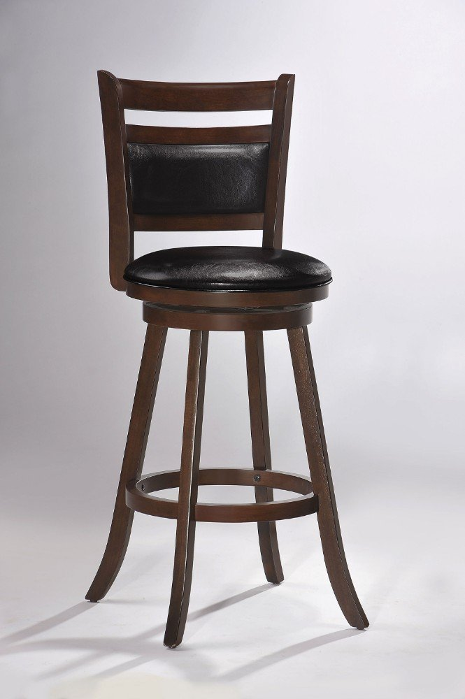 Get Quotations · Wooden Bar Chair With Swivel, Cappuccino Brown