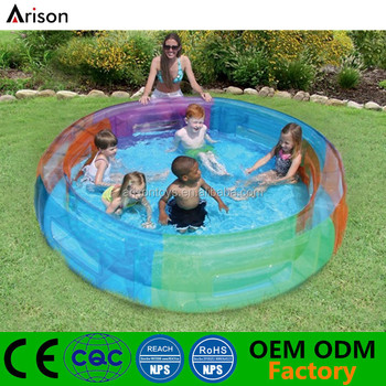 Customized round inflatable pool new born baby swimming for Plastik pool rund