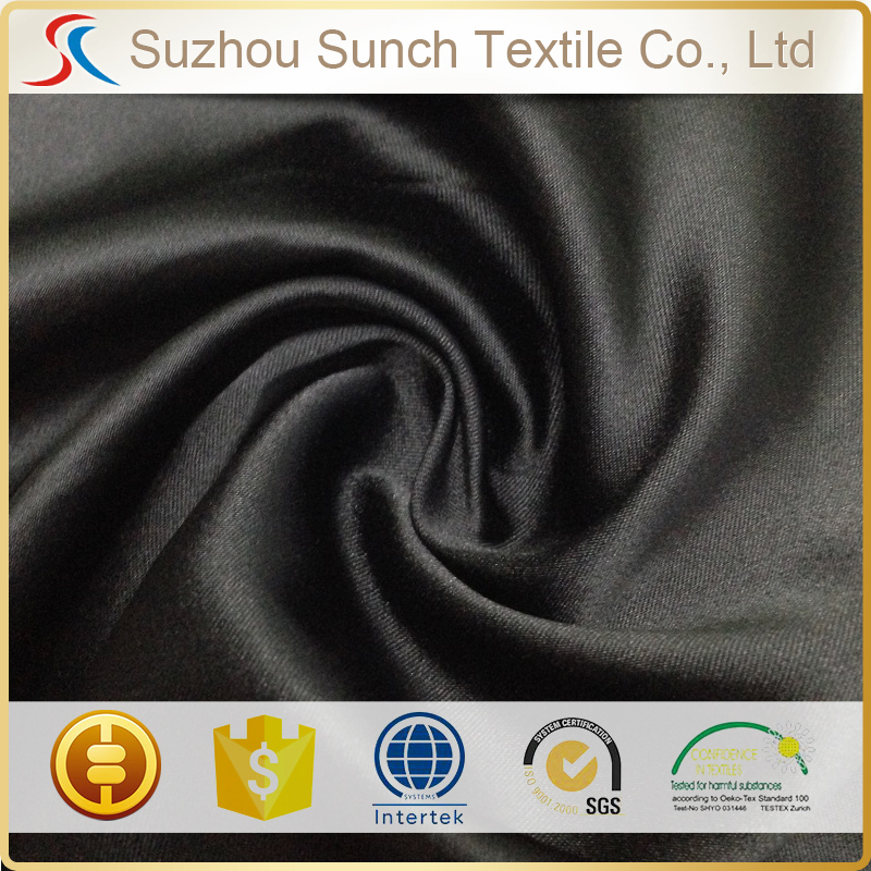 100% polyester stretched matt twist heavy satin fabric