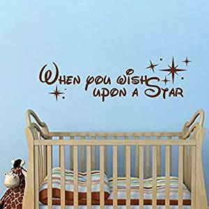 Get Quotations · Wall Decal Decor When You Wish Upon A Star Wall Quote Decal    Baby Room Decal