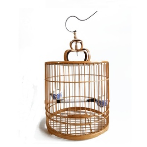 Wholesale Cheap Breeding Bamboo Wooden Bird Cages With Drop Shipping