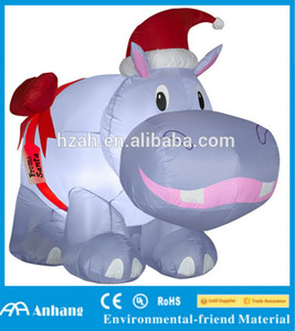 I Want A Hippocampus For Christmas.Christmas Decoration Inflatable Hippopotamus Inflatable River Horse Inflatable Behemoth For Sale