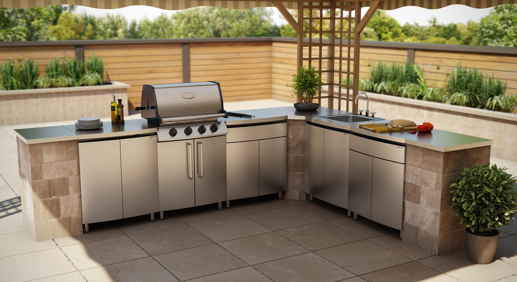 2019 Vermont Modular Outdoor Kitchens Stainless Steel Bbq ...