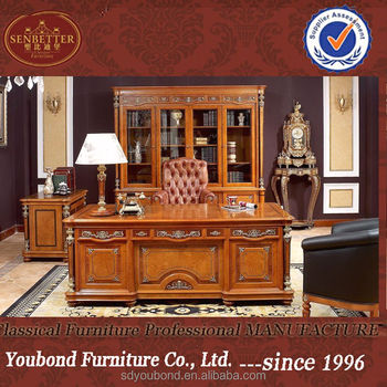 0029 Classic Solid Wood Office Furniture Executive Veneer Office Desk Luxury Boss Office Table Designs View Executive Wood Veneer Office Desk