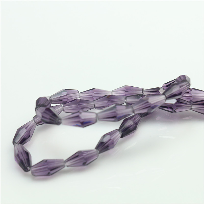 Crystal Glass Loose Beads Dark Purple Color 3*6mm Bicone Beads For DIY Bracelets Earring Rings Hiar Plastic Beads
