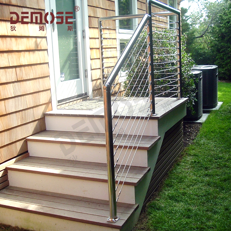Steel Wire Net Veranda Fences Design U Shape Handrail
