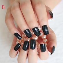 24 шт. длинные классические телесные шпильки накладные ногти прозрачные акриловые накладные ногти для девочек искусственные накладные ногт...(Китай)