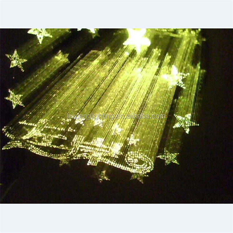Japanese Mitsubishi light fiber optic cable chandelier crystal , side and end glow color pendant lamp