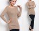 solid rayon cable knitted women tight fitted pullover sweater