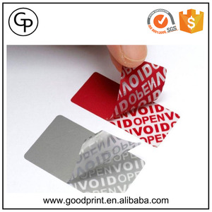 Security Adhesive Warranty Seal Label Printing Void Sticker