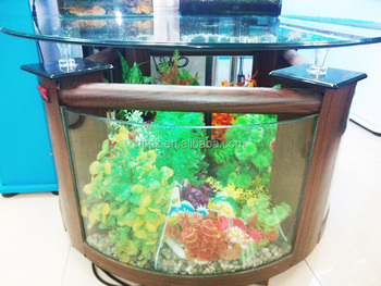 glass wooden teapoy coffee round aquarium office made in china tea