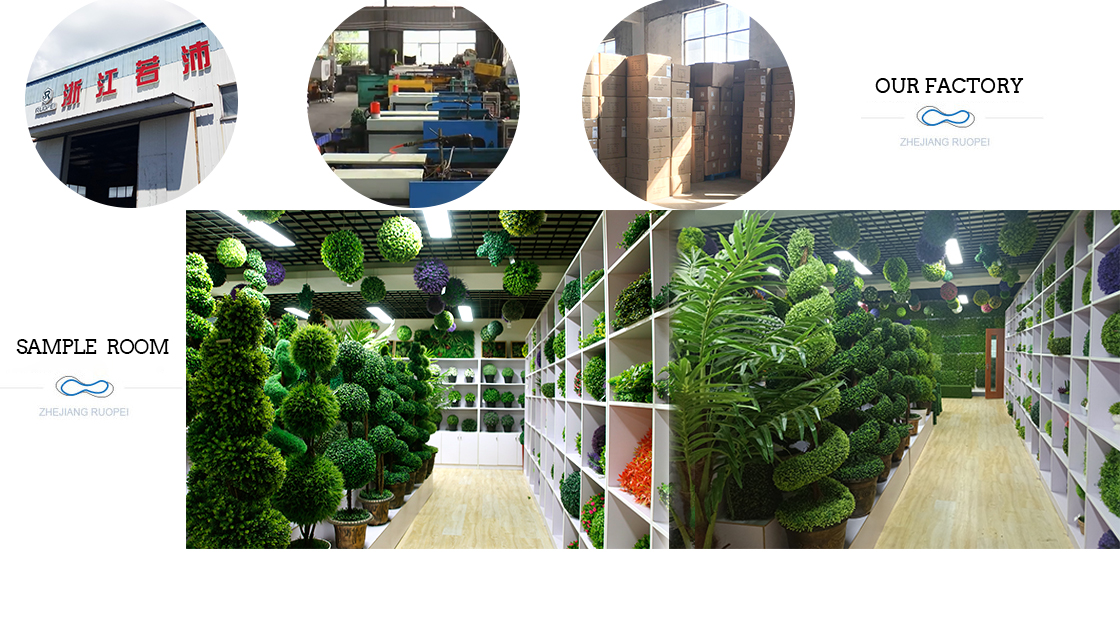 1m*3m best material artificial boxwood leave ivy outdoor decoration plastic shrubs and hedges