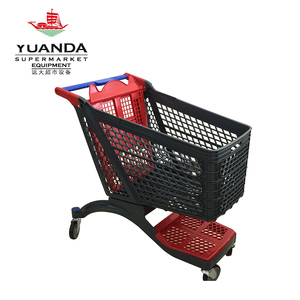 Hot Selling Luxury Supermarket All Plastic Shopping Trolley Cart from China