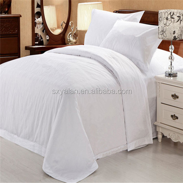 100%cotton luxury hotel cotton duvet cover/hotel quilt cover/white dobby duvet cover