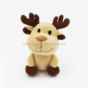 Custom made reindeer stuffed plush toys for christmas wholesale cute soft plush reindeer stuffed toys