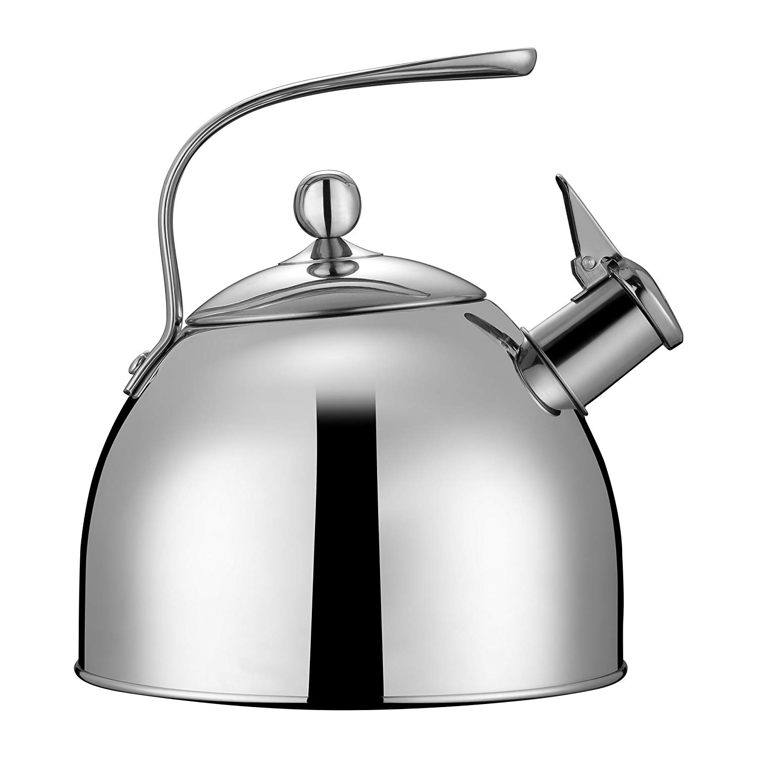Tea Pot-Classic Cookware 304 Stainless Steel Whistling Tea Kettle, 2.6 Quart