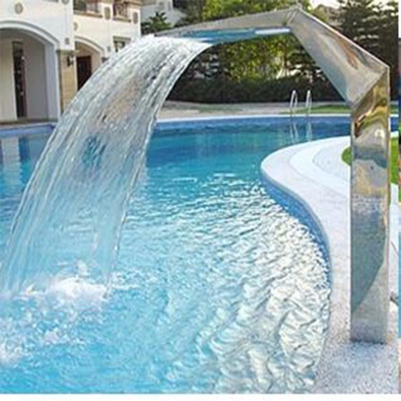 Edelstahl Schwimmbad Wasser Klinge Wasserfall Pool Wand Wasser Herbst  Wasserfall Für Pool