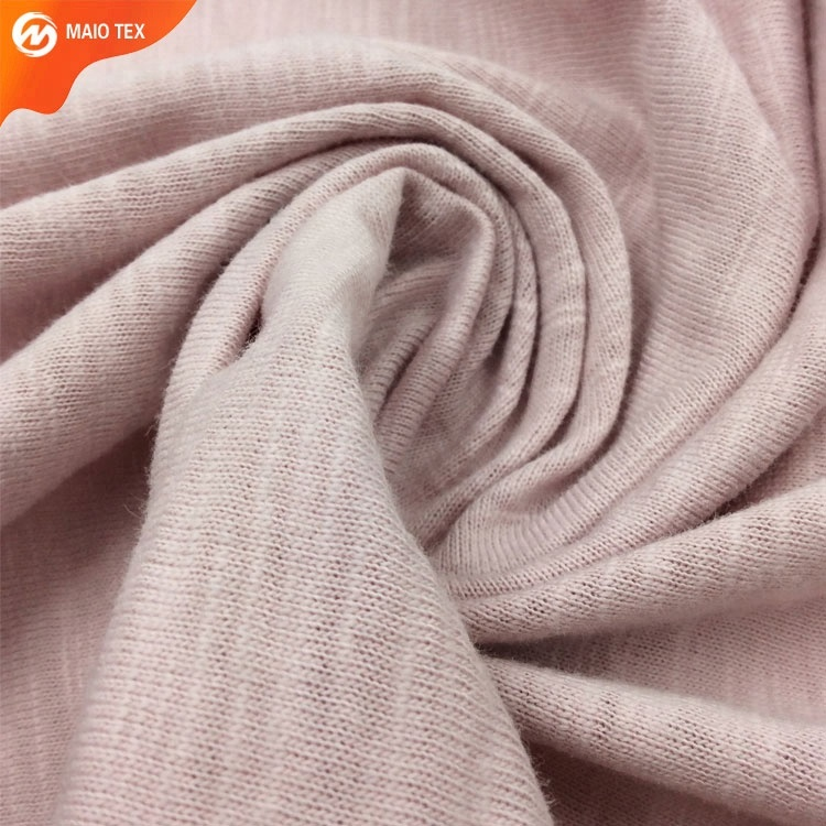 new collection slub jersey knitting 100% cotton fabric for summer clothing fabric