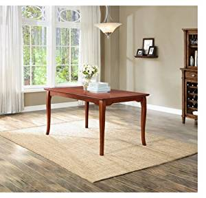 Better Homes and Gardens Ashwood Road 6-Seater Dining Table, Brown Cherry Finish