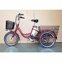36V250W 3 Wheels Electric Tricycle with Lithium Battery