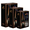 Luxury liqueur spirits alcohol wine bottle packaging gift window box with handles