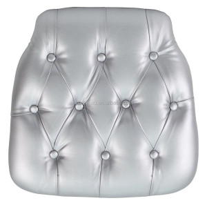 foshan hot sale PU Leather chiavari chair cushion pads for event